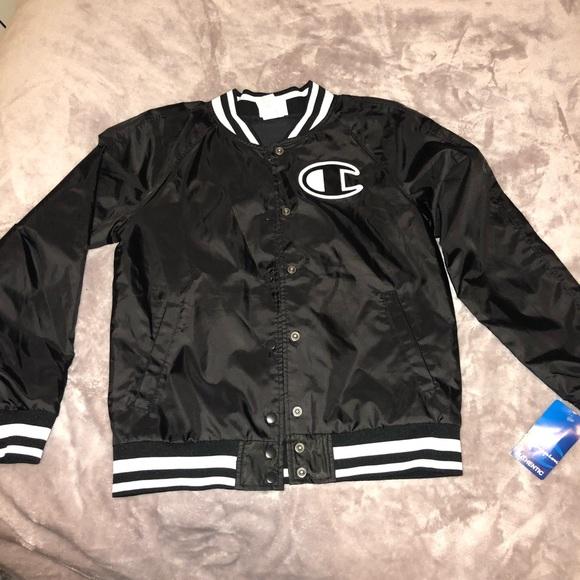 1f1d0b0d7685 Champion Jackets & Coats   Satin Black Bomber Jacket Burton Up ...